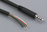 Cable, 1830 mm, 2.5 mm 4C 50-00401 slim audio plug to 5 mm tinned, 28 AWG, 30-00176, shielded