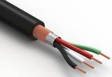 Wire, 4C BC, 28 AWG, 300V, 80C, 3.8 mm, spiral + foil, PVC