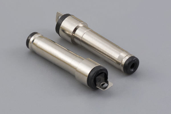 Connector, dc plug, 3.5x1.1xL20 mm, molding style, spring contacts