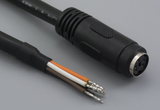 Cable, 1830 mm, 5P mini-DIN female 50-00165, to stripped tinned, 20 AWG, UL2464 30-00025, shielded