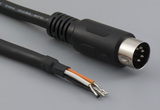 Cable, 1830 mm, 5P DIN male 50-00172, to stripped tinned, 20 AWG, UL2464 30-00025, shielded