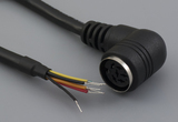 Cable, 1830 mm, 6P 90° DIN female 50-00180, to stripped tinned, 26 AWG, UL2464 30-00063, shielded
