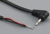 Cable, 1830 mm, 2.5mm 90° 50-00132 mono plug to stripped tinned, 24 AWG, 30-00005 wire, shielded
