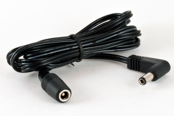 Cable, 1830 mm, 5.5x2.5x12 mm, 90° 50-00351 plug to 5.5x2.5mm, 50-00027 jack, 18 AWG, 30-00007 wire