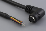 Cable, 1830 mm, 8P 90° mini-DIN female 50-00168, to stripped tinned, 26 AWG, UL2464 30-00065, shield