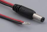 Cable, 1830 mm, 5.5x2.1x12 mm 50-00024 dc plug to 10 mm tinned, 18 AWG, 30-00415 R-B wire