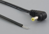 Cable, 1830 mm, 4.0x1.7x10 mm, 90° 50-00382 dc plug to stripped tinned, 24 AWG, 30-00003 wire