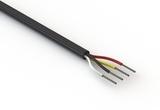 Wire, 4C TS, 20 AWG, UL2464, 300V, 80C, 5.3 mm, VW-1, PVC, 91A