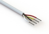 Wire, 4C TS, 20 AWG, UL2464, 300V, 80C, 5.3 mm, VW-1, PVC, 91A, white