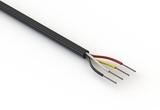 Wire, 4C TS, 22 AWG, UL2464, 300V, 80C, 4.85 mm, VW-1, PVC, 91A
