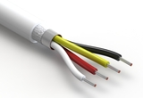 Wire, 4C TS, 24 AWG, UL20549, 300V, 80C, 5.2 mm, shielded, VW-1, TPU, white