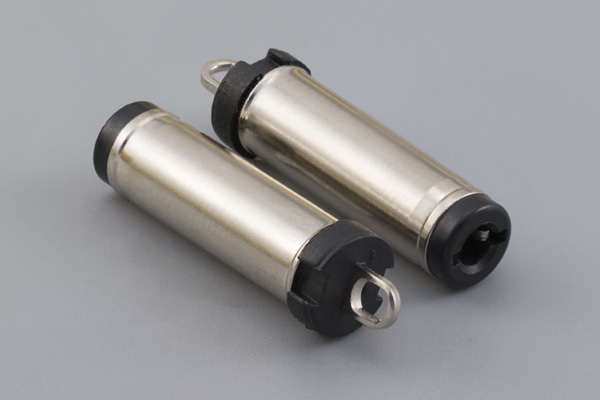 Connector, dc plug, 5.5x2.5xL23 mm, molding style, spring contacts