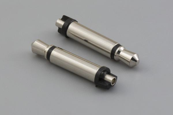 Connector, mono plug 3.5xL20.5 mm, brass nickel plated