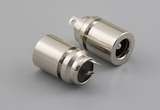 Connector, dc jack, 5.5x2.1xL17.6 mm, molding style, spring contacts, solder tab