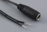 Cable, 1830 mm, 5.5x2.1 mm 50-00025 dc jack to stripped tinned, 18 AWG, 30-00007 wire