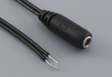 Cable, 915 mm, 3.5x1.35 mm 50-00057 dc jack to stripped tinned, 24 AWG, 30-00003 wire