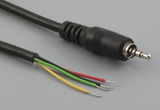 Cable, 1830 mm, 4C 2.5mm 50-00006 plug with metal ring to stripped tinned, 26 AWG, 30-00413