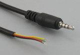 Cable, 1830 mm, 4C 3.5 mm 50-00008 plug to stripped tinned, 26 AWG, 30-00413