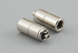 Connector, dc jack, 4.0x1.7xL16.8 mm, brass nickel plated, molding style