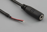 Cable, 1830 mm, 3.5 mm 3C 50-00039 audio jack to 5 mm tinned, 28 AWG, 30-00177 wire