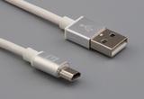 Cable, 1000 mm, 50-00575 USB A plug to 50-00579 USB A mini plug, 28 AWG, 30-00099 wire, white