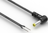Cable, 1830 mm, 4.0x1.7x12 mm 90° 50-00136 dc plug to 10 mm tinned, 24 AWG, UL2468, 30-00404 wire