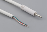 Cable, 1830 mm, 2.5 mm 50-00406 slim stereo plug to 5 mm tinned, 28 AWG, 30-00180, shielded, white