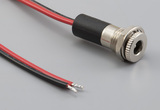 Cable, 305 mm, 5.5x2.5 mm 54-00064 dc panel mount jack to stripped and tinned, 18 AWG, 30-00415