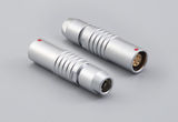 Connector, PPL7, 5C, 0° socket, 7x35 mm, chrome, solder, Ø4.2-5.2 mm wire